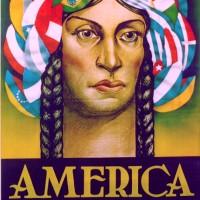 Afiche sobre la unidad continental