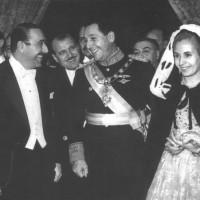 Veladas de gala en el Colón, a las que asistían las autoridades nacionales, así como los diplomáticos representantes de distintas embajadas