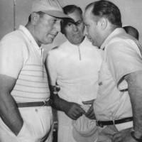 Perón con el as del automovilismo, Juan Manuel Fangio