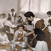 Comedor del Hogar Escuela Presidente Perón, en Santiago del Estero